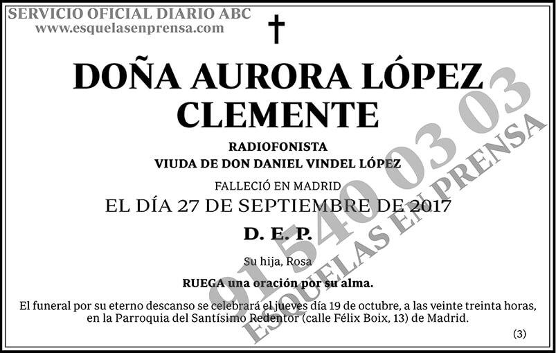 Aurora López Clemente